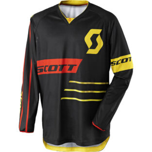Motokrosový dres SCOTT 350 Dirt MXVII Black-Yellow - XL (54-56)