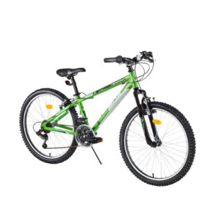 "Juniorské horské kolo DHS Terrana 2423 24"" - model 2016 Green - Záruka 10 let"