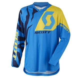 Motokrosový dres SCOTT 350 Race MXVII Blue-Yellow - XXL (58)