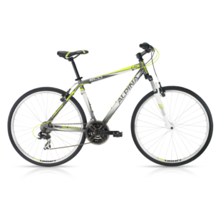 "Crossové kolo ALPINA ECO C10 grey-lime - model 2016 19"" - Záruka 5 let"