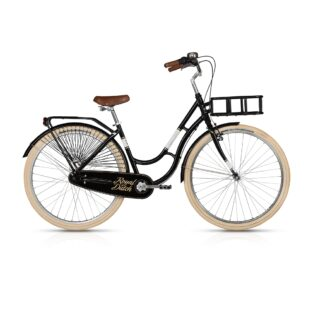 "Městské kolo KELLYS ROYAL DUTCH 28"" - model 2017 Black - 460 mm (18"") - Záruka 10 let"